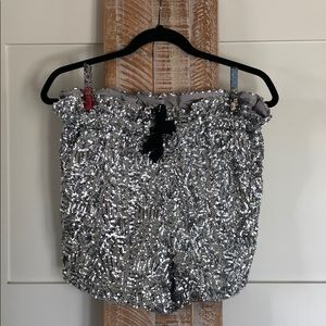 Sequin High Waisted Shorts